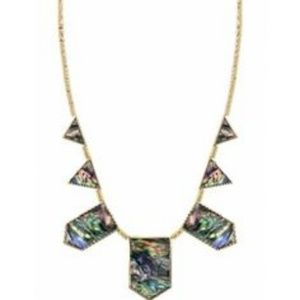 House of Harlow 1960 Five Station Abalone Necklace